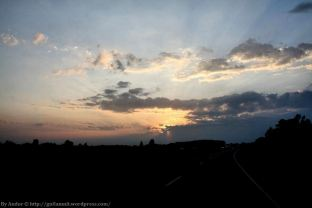 Highway Sunset Sheboygan WI By Andor