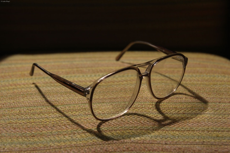 My glasses, upon My Grandfather's old drinking chair © Andor