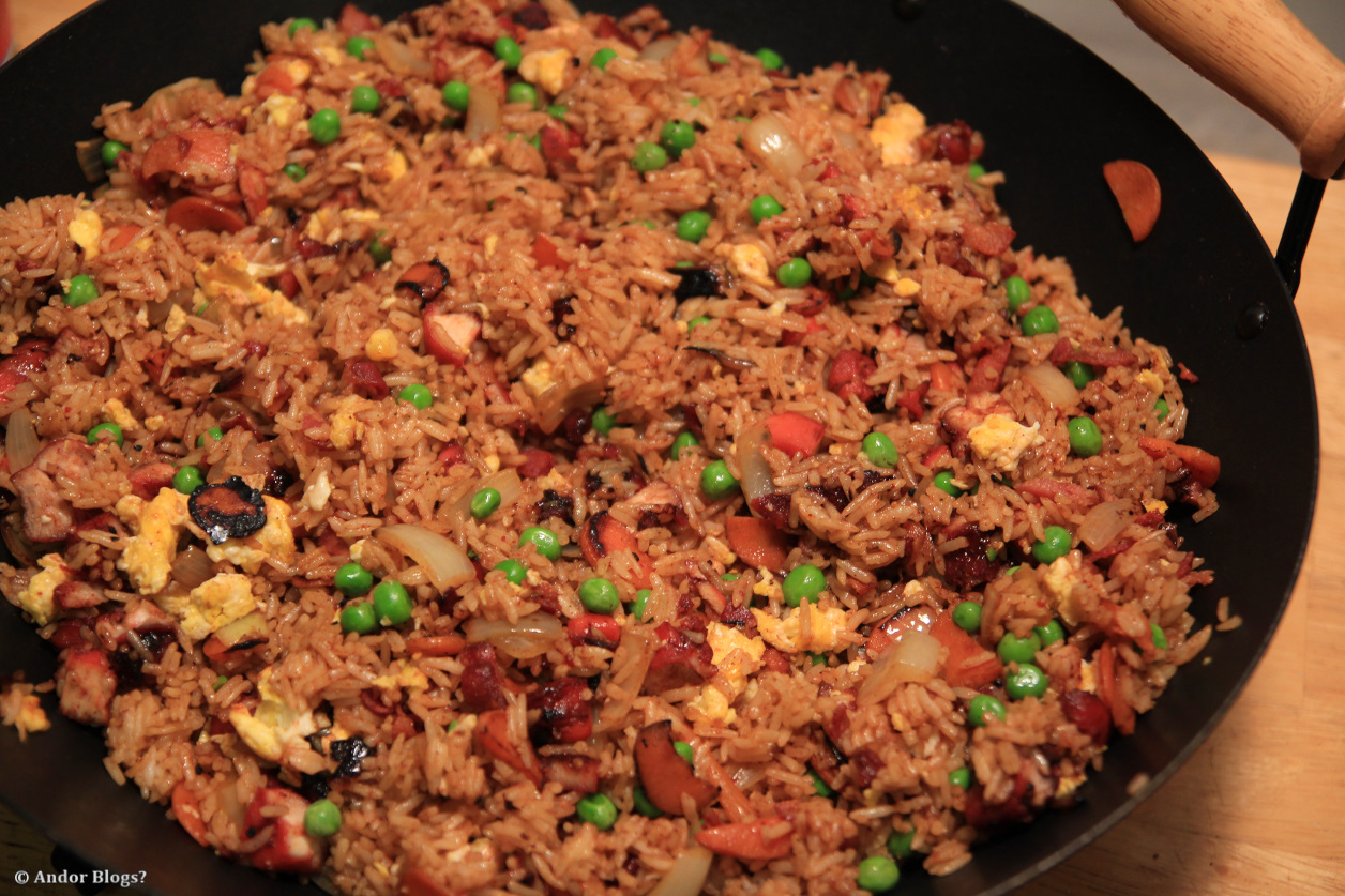 ... fried rice bacon and egg fried rice chinese food # pork fried rice