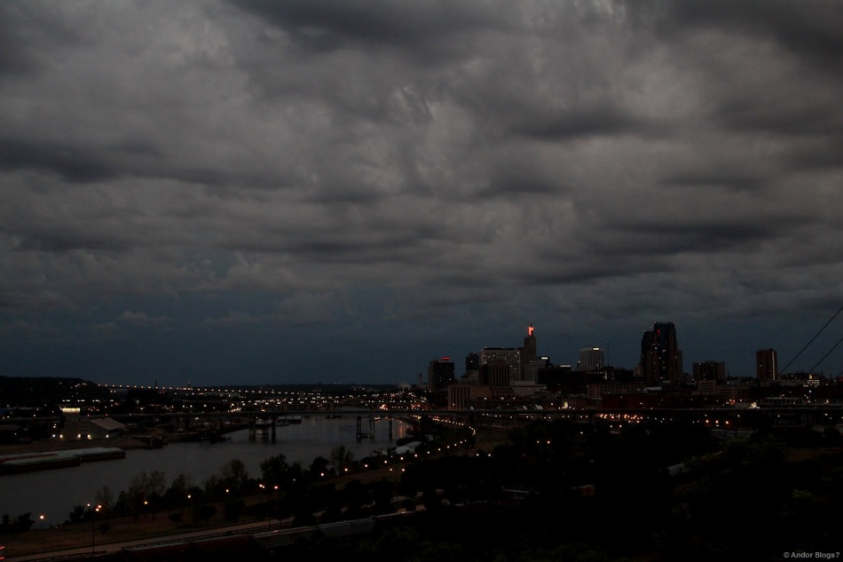 Storm at Dusk over Saint Paul, MN © Andor