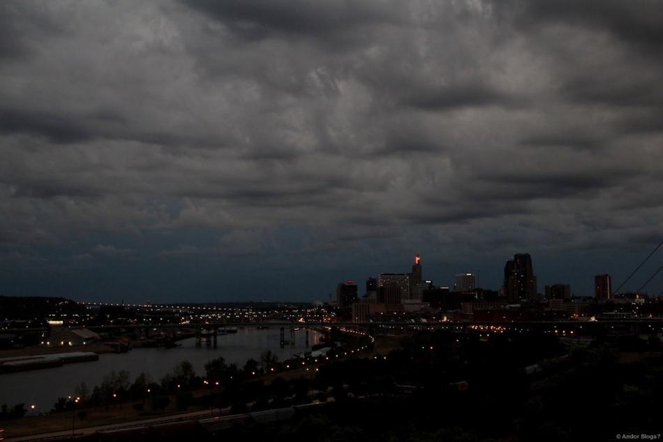 Storm at Dusk over Saint Paul, MN © Andor