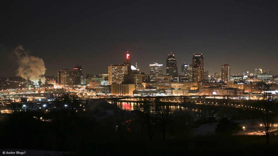 Saint Paul Minnesota from Burial Mounds Park © Andor